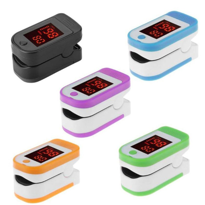 Household Pulse Oximeter LED Finger Clip Heart Rate Monitor SpO2 Oximetry Monitor (Without Battery)