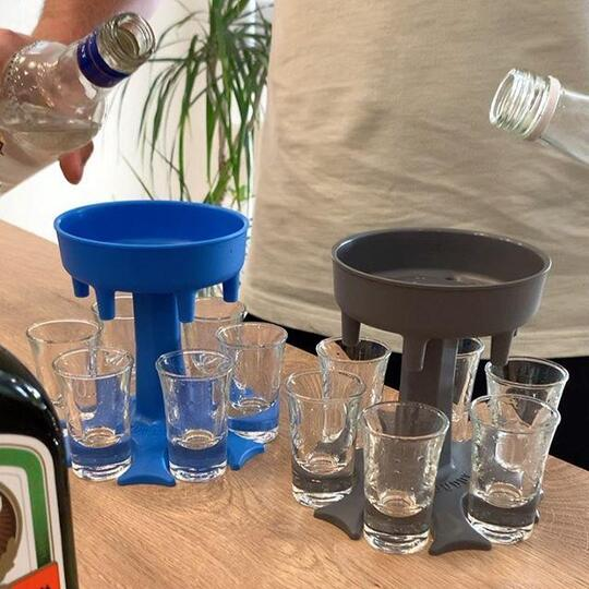 🎅40% off Christmas sale🧦 6 Shot Glass Dispenser and Holder/Carrier Caddy Liquor Dispenser Party Gifts Drinking Games Shot Glasses Get The Party Started Faster!