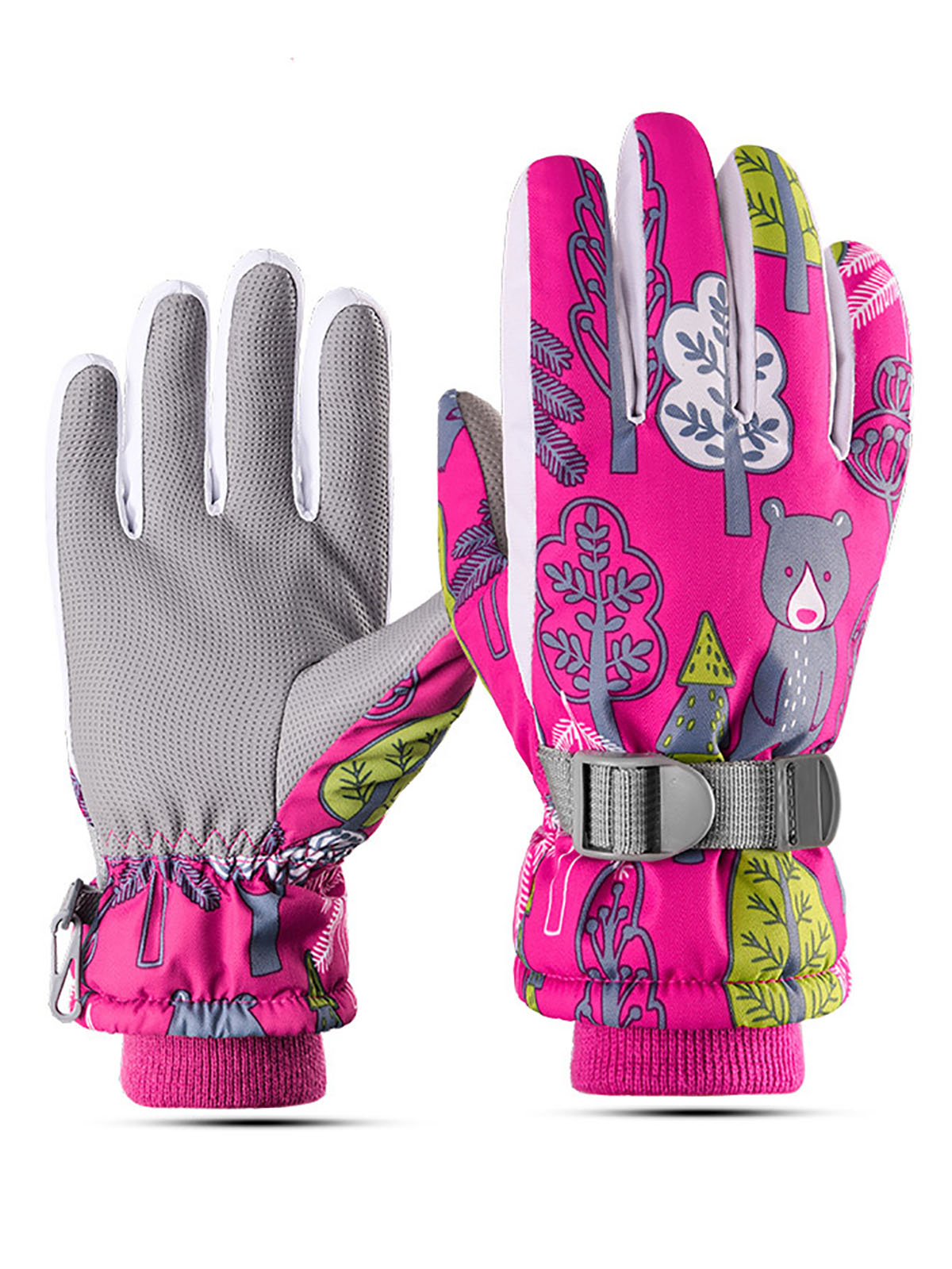 Children's outdoor ski warm and cold gloves