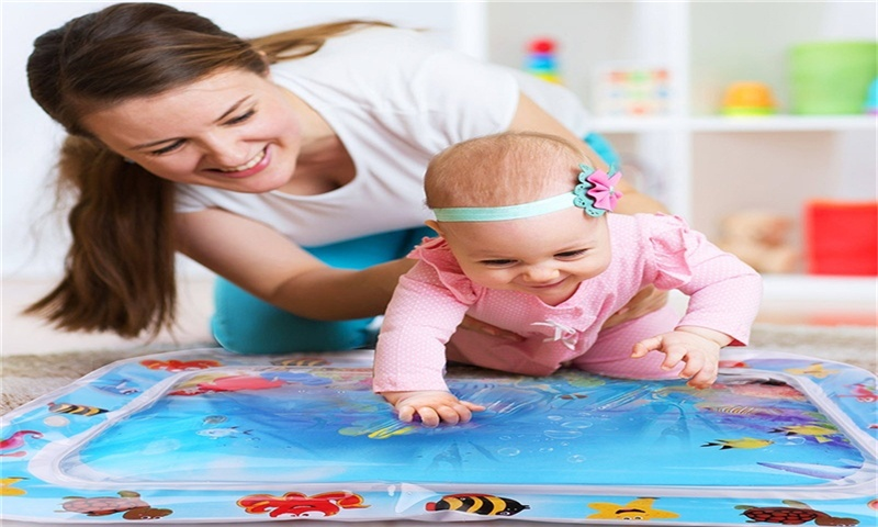 Infinno Tummy Time Mat Baby Water Play Mat, Activity Center, Stimulate Your Baby's Growth, Baby Toys, 3 to 24 Months, 26 x20