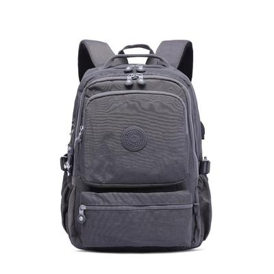 Women's Waterroof Nylon Bags USB Multi-pocket Backpack