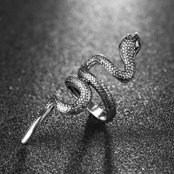 Gothic Personality Punk Jewelry Nightclub Cool Snake Index Finger Men's Ring