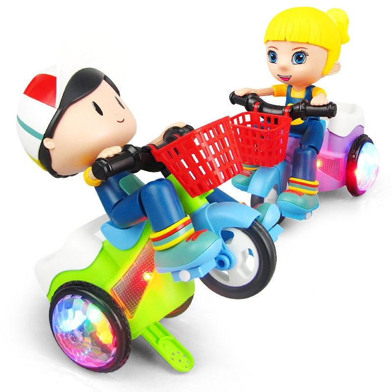Super Sports Car Stunt Tricycle Toy