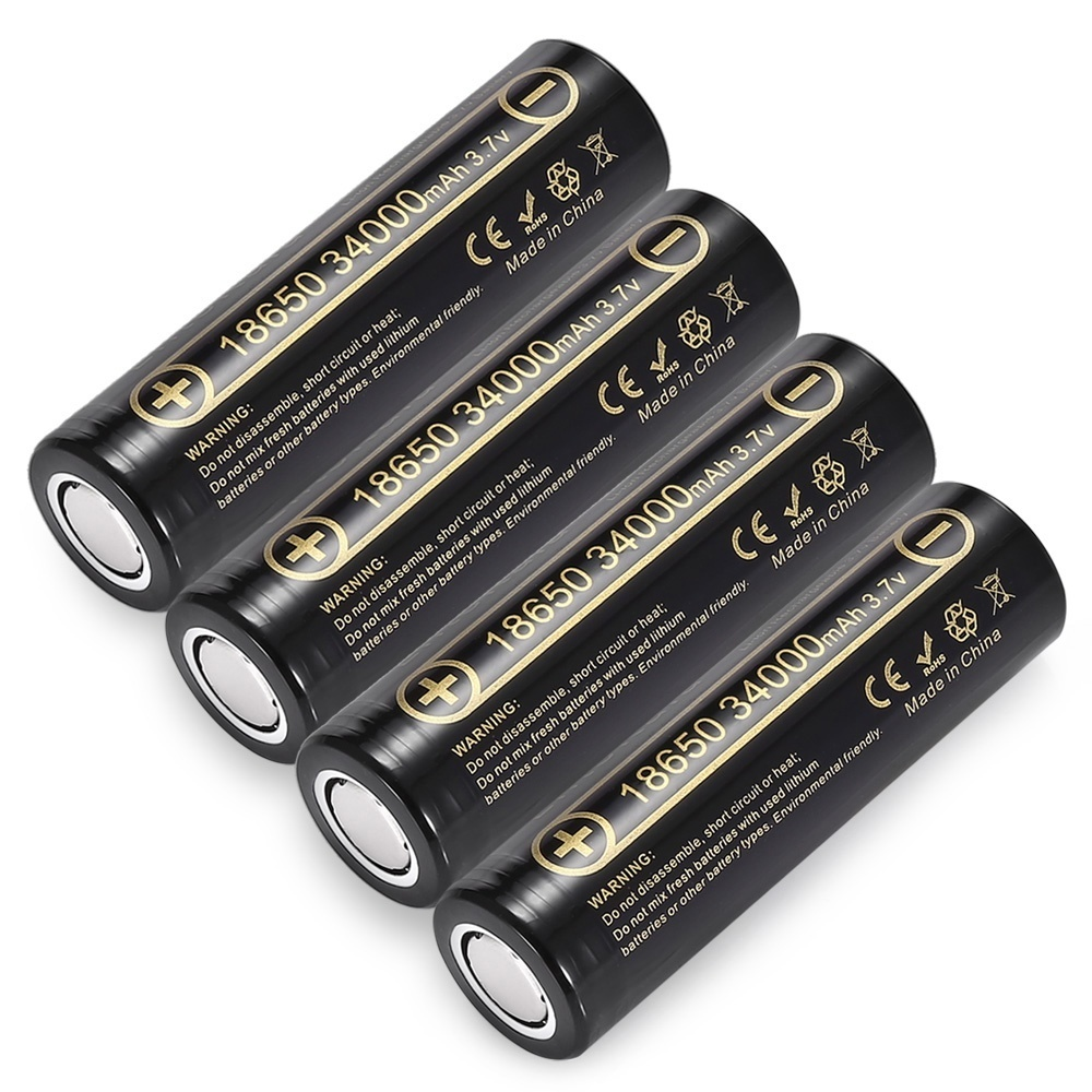 Lii-34A 18650 34000mah 3.7v 34000mah 18650 Lithium Rechargeable Battery For Flashlight Batteries