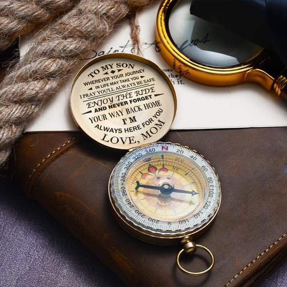 Pure copper compass-Gift for mother