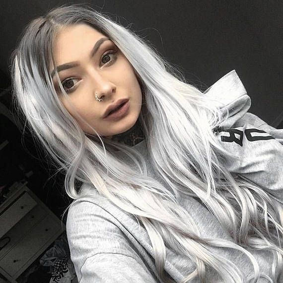 Lace Frontal Wigs For Women Gray Wigs Wet And Wavy Hair Bundles Raw Malaysian Hair