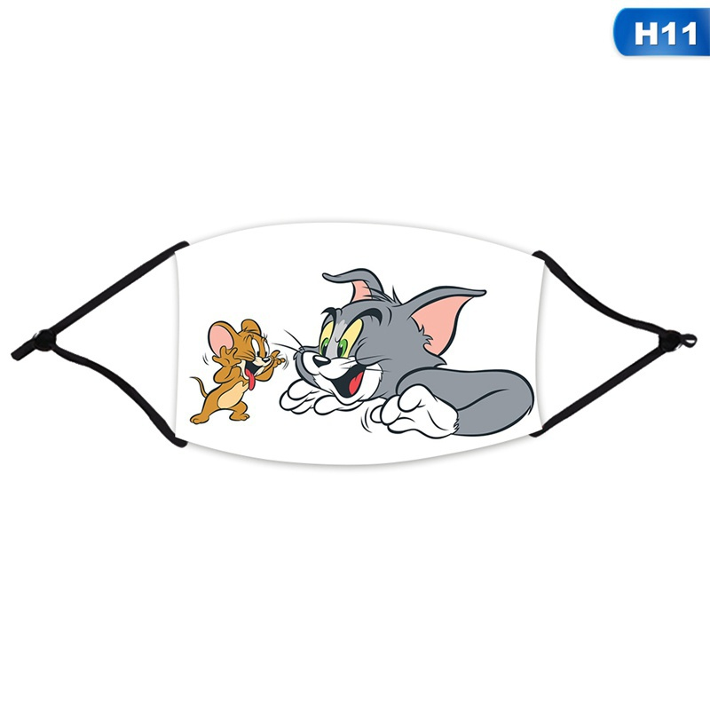 12 Styles Tom And Jerry Cute Cartoon 3d Printed Adult Kids Face Masks