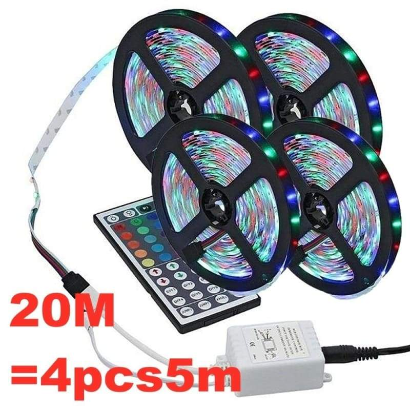 1 Set RGB SMD 3528 LED Lights with 1M 3M 5M 10M 20M Flexible Belt +44 Key Infrared Remote Control for Home / Wedding Decoration Lighting