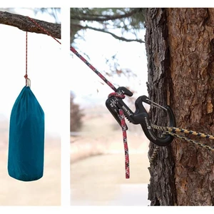 Small Aluminum Rope Tightening Mechanism With Carabiner Clip( Buy 8 Free Shipping !!!)
