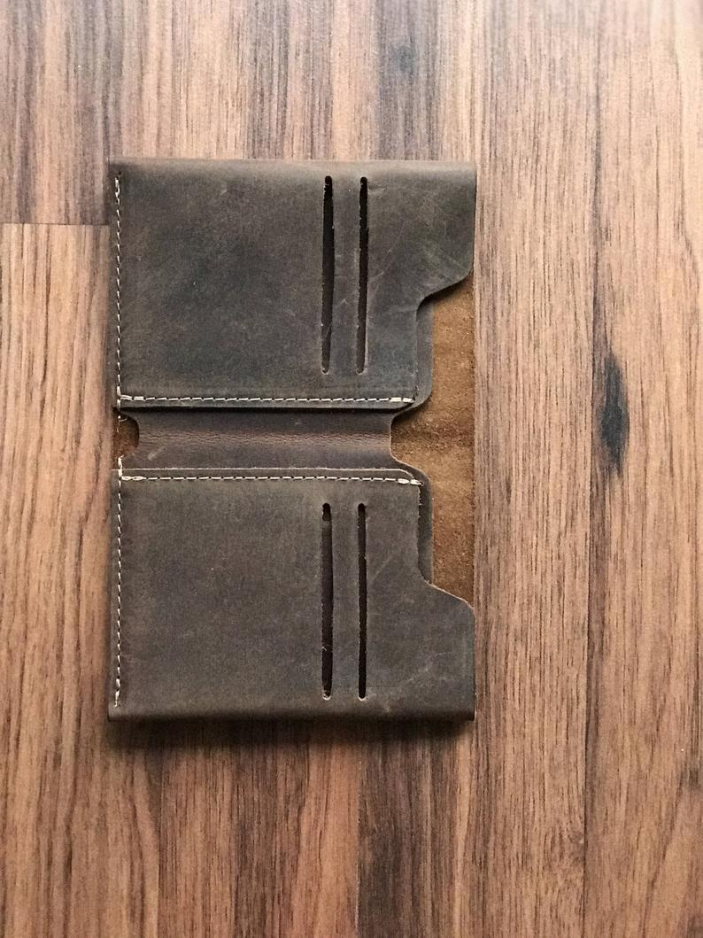 Personalized Bifold Leather Wallet, Unisex Wallet, Minimalist Leather Wallet, Slim Leather Wallet, Distressed Leather Wallet        Update your settings