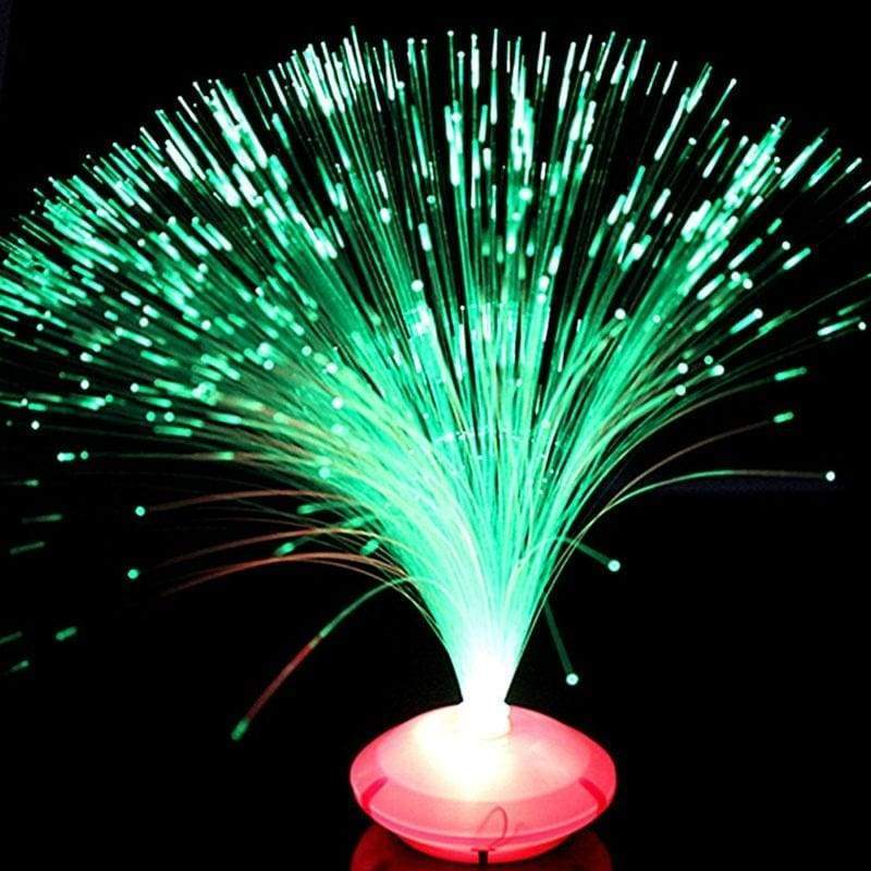 Night Party Changing Color Changing LED Fiber Optic Night Light Lamp Stand