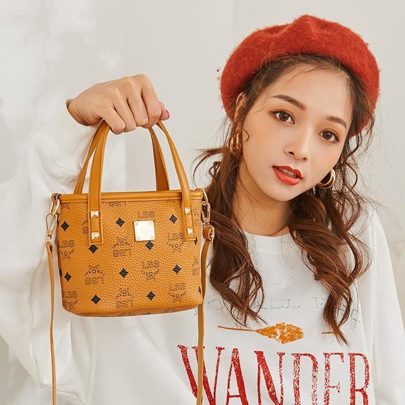 【50% discount for a limited time】Women's handbags Printed contrast color crossbody bucket bag fashion bag