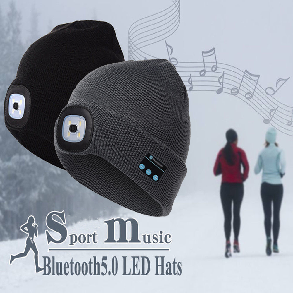 Smart Bluetooth headset LED Winter hat