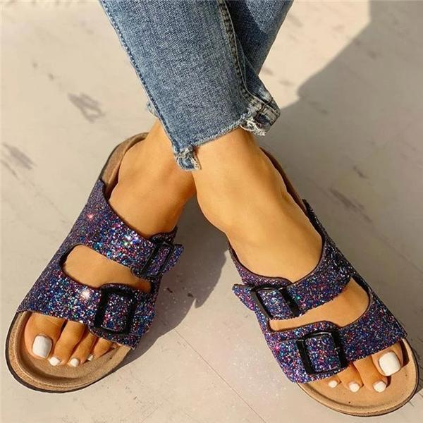 Mokoshoes Flip Flop Flat With Buckle Slip-On Summer Casual Slippers