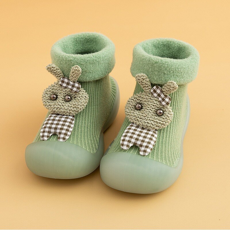 Kids Winter Warm Shoes Socks Brushed Thick Sock Baby Booties Soft Soles