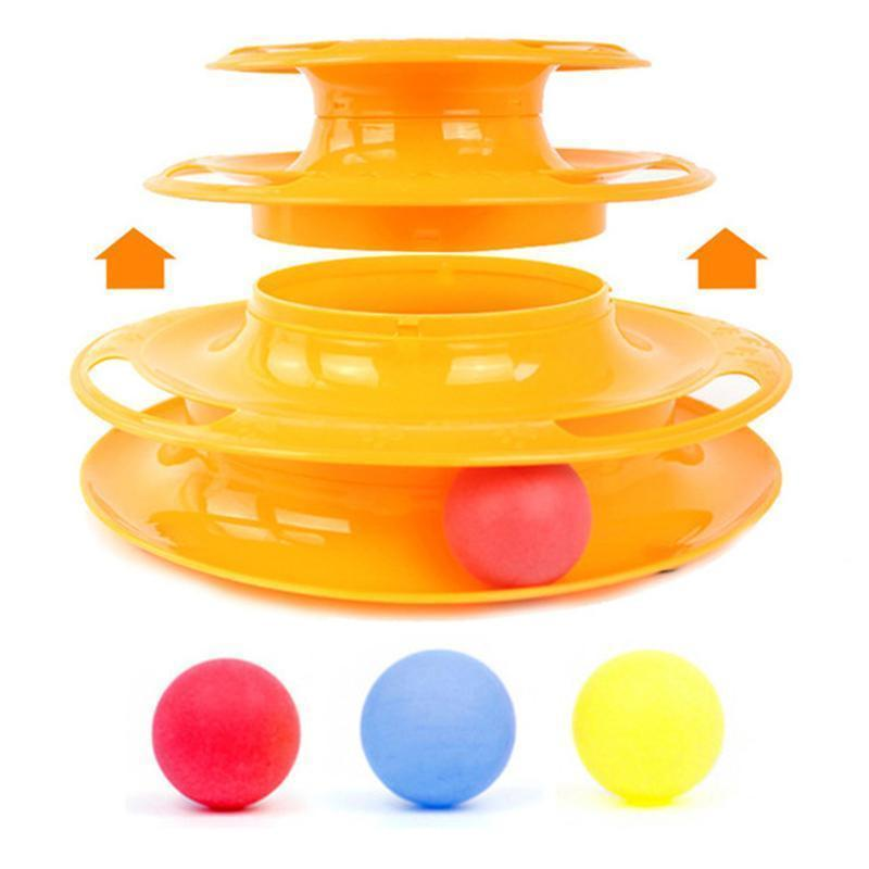 Three Levels Tower of Tracks Pet stages Cat Turbo Toy Play Station