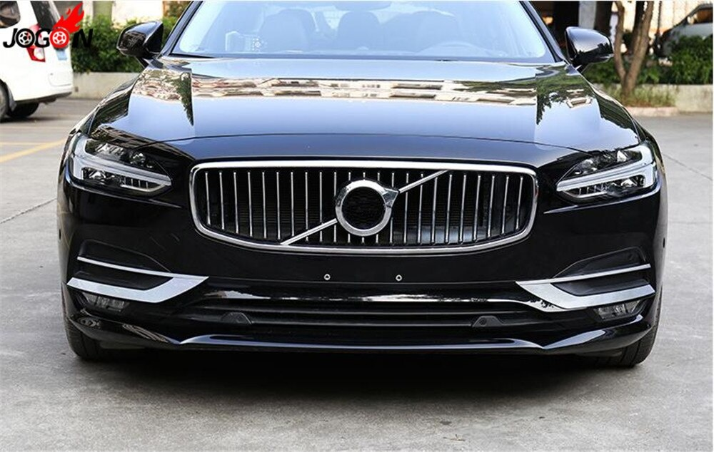 Chrome Front Foglight Lamp Cover Frame Trim Decoration For Volvo S90 V90 2017 2018 Car Styling Accessories