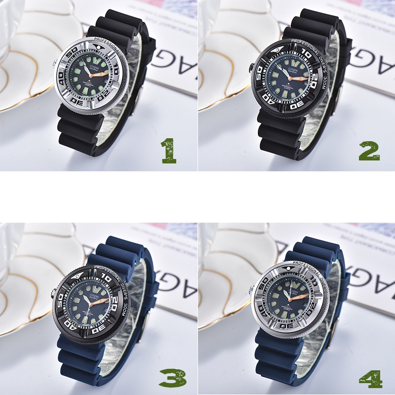 2020 New Citizen Men's  Diving rotatableWatch with Date, Light Kinetic Drive Light Watch(2 Colors)