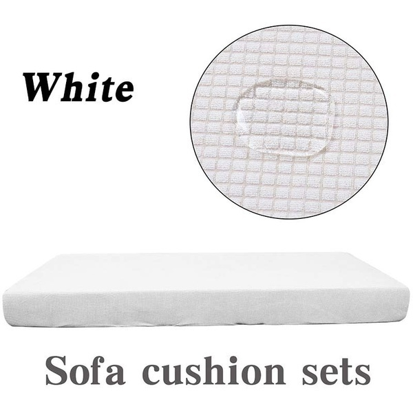 NEW 13 Colors Waterproof 1/2/3/4 Seaters Sofa Cushion Cover Elastic Jacquard Polyester Spandex Couch Seat Cover Solid Color Loveseat Chair Cushion Slipcover