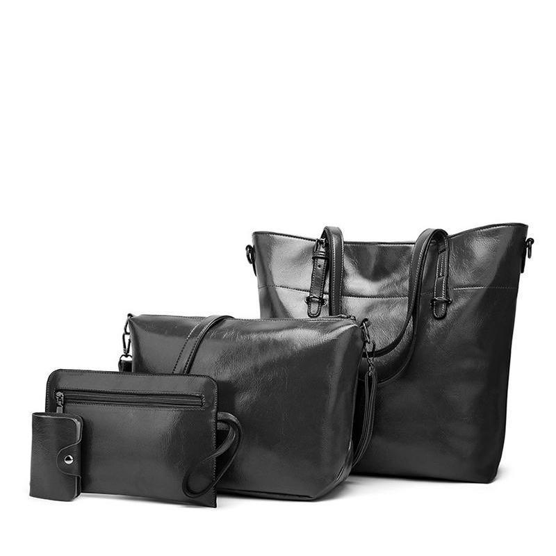 Four-piece classic tote bags