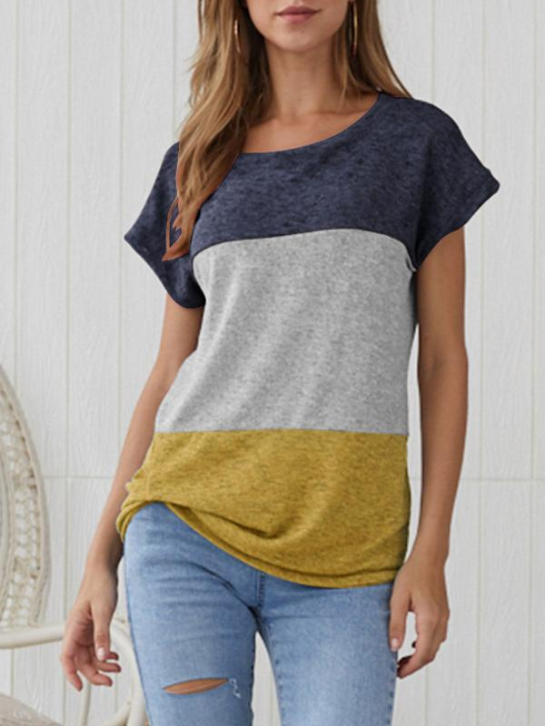 Mokoshoes Stitched Contrast Loose T-shirt