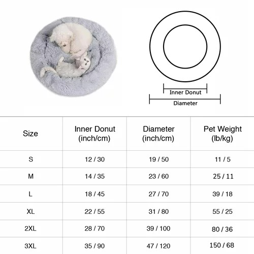 【Last Day Promotion 50% OFF & Best Gift】Comfy Plushy Deep Sleep Pet Bed