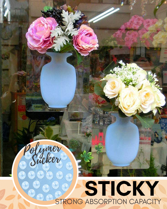 2020 New year 50% OFF--Stick-on Silicone Vase