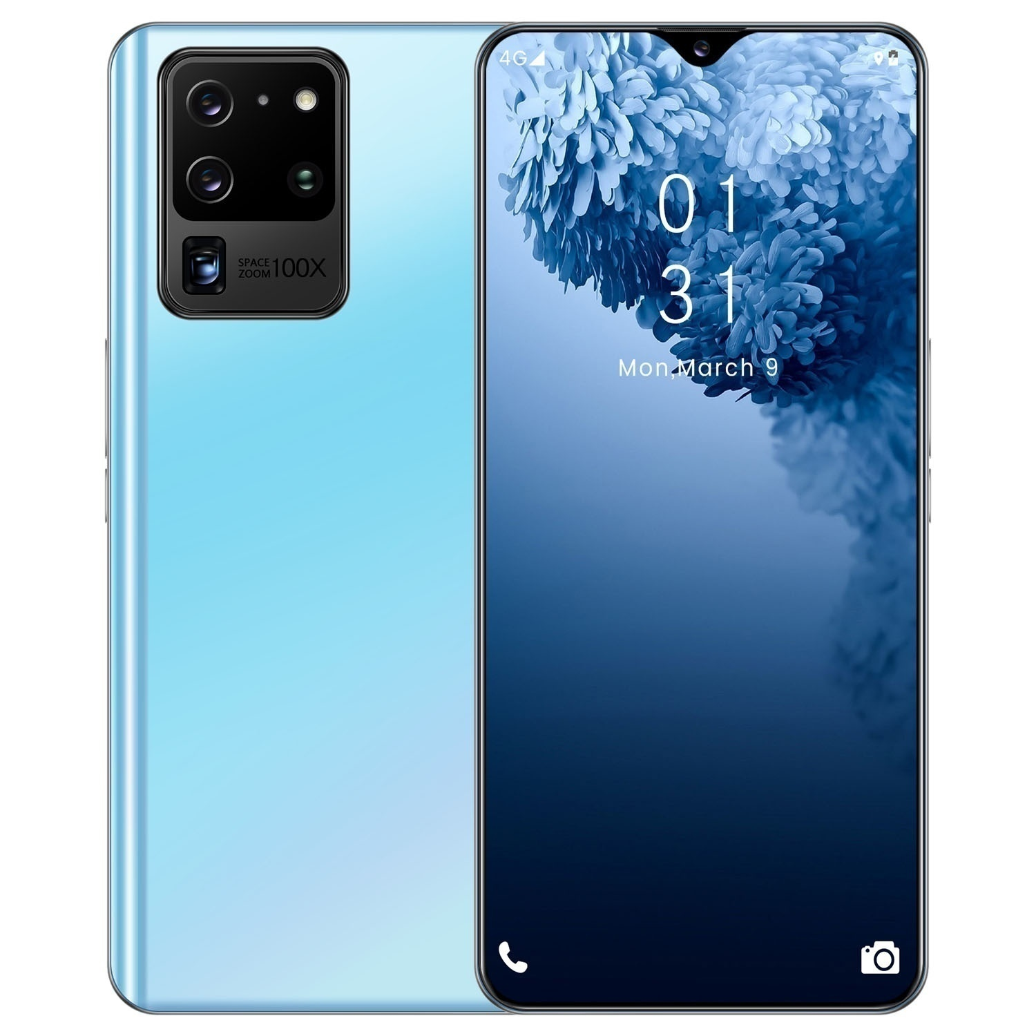2020 New Android  Smartphone S20 pro  6.7 Inch with 12+512GB Recognition Smartphone Mobile Phone with 4G/5G Dual Sim Cards 16MP +32MP HD camera Bluetooth GPS Ten Core