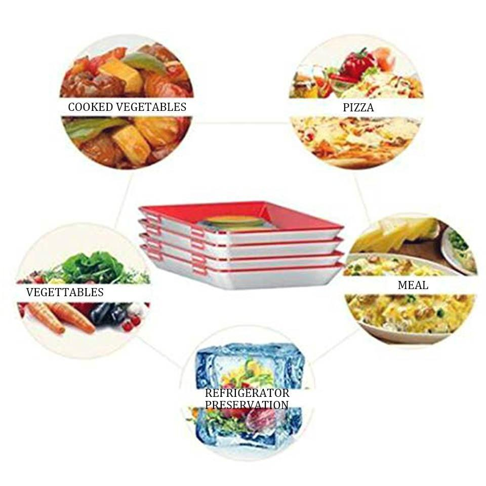 New Year Promotion-CREATIVE FOOD PRESERVATION TRAY / FOOD REUSABLE TRAYS(Buy 3 Get 1 free)