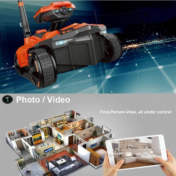 Smart Electric RC Tank Battle Rover Robot Phone App Controlled Wifi FPV HD Camera AR PVP Remote Control Toys