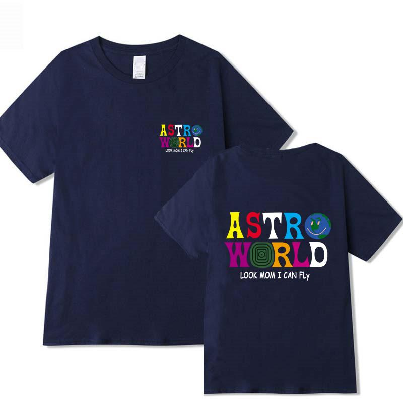 TRAVIS SCOTT ASTROWORLD LOOK MOM I CAN FLY PRINTED T-shirts