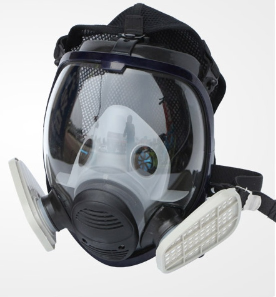 Full-scale anti-virus equipment 6800 chemical spray paint protective mask silica gel fire fighting formaldehyde disinfection ammonia gas anti-virus