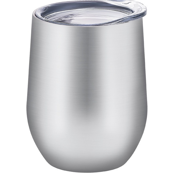 12 oz Double-insulated Stemless Glass Wine Tumbler, Stainless Steel Tumbler Cup with Lids for Coffee, Drinks, Champagne, Cocktails