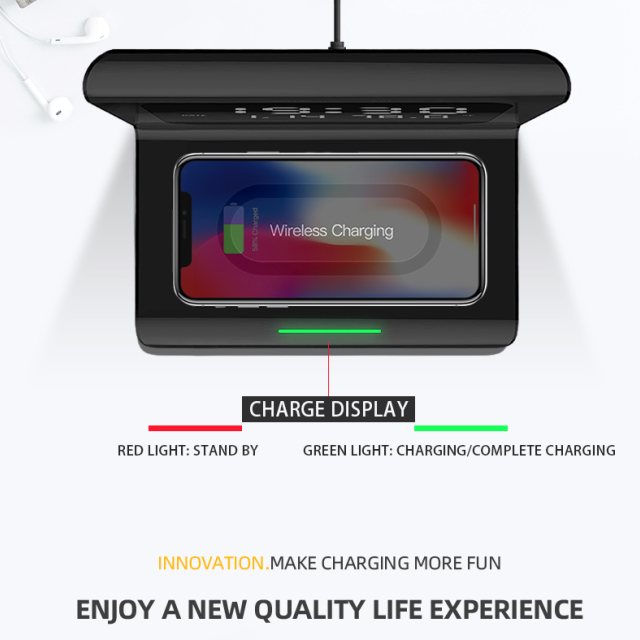 🎉Winter Sale 30% OFF - 2020 New Creative Wireless Phone Charging Station With Digital Alarm Clock