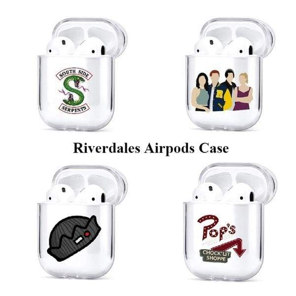 Riverdales Airpods Case Waterproof Tpu Airpods Protective Skin Cases For Airpods 1/2 (Only Case)