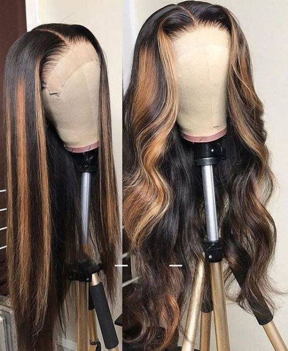 Lace Front Wigs brown wigs long hair dark blonde wigs for women wave wigs wave hair