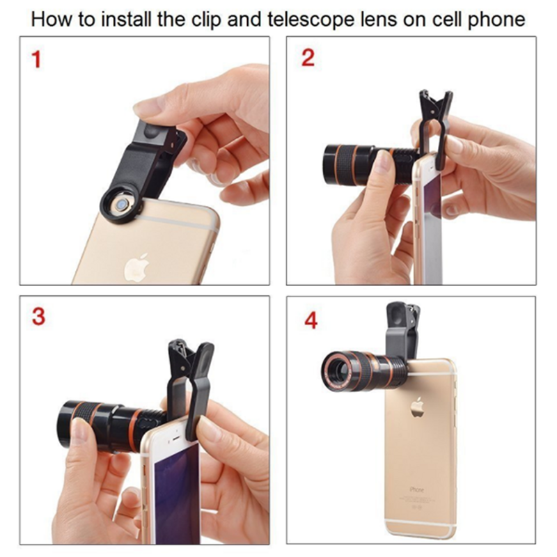 Actual Magnification: 12X!Transform Your Phone Into A Professional Quality Camera!