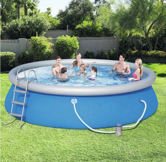 Cool Summer Updated  Easy Set Pool Set Air  Pump 12 ft x 36 in