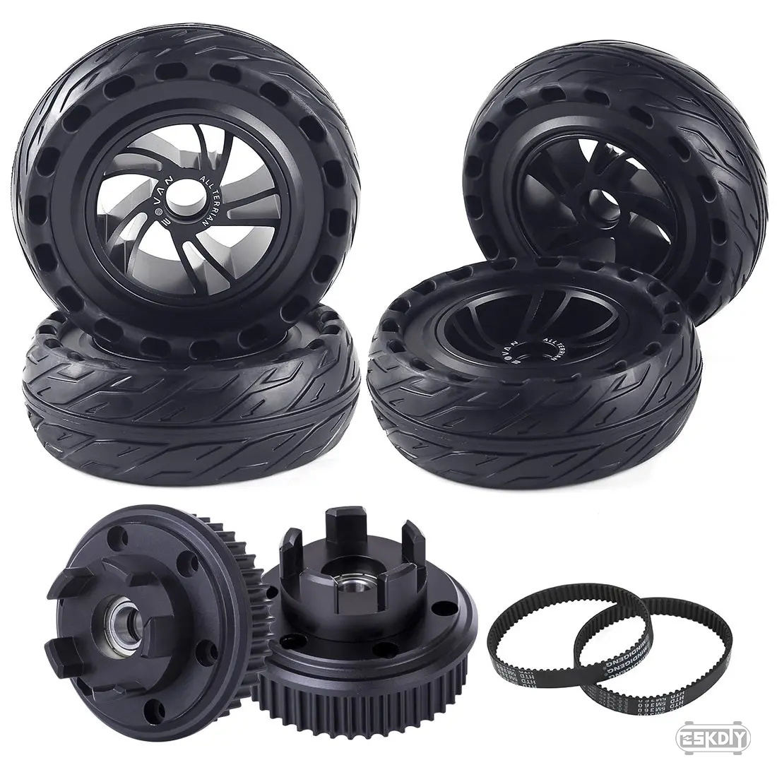 AT165 Airless Rubber Wheels Set for Belt Drive -All Terrain
