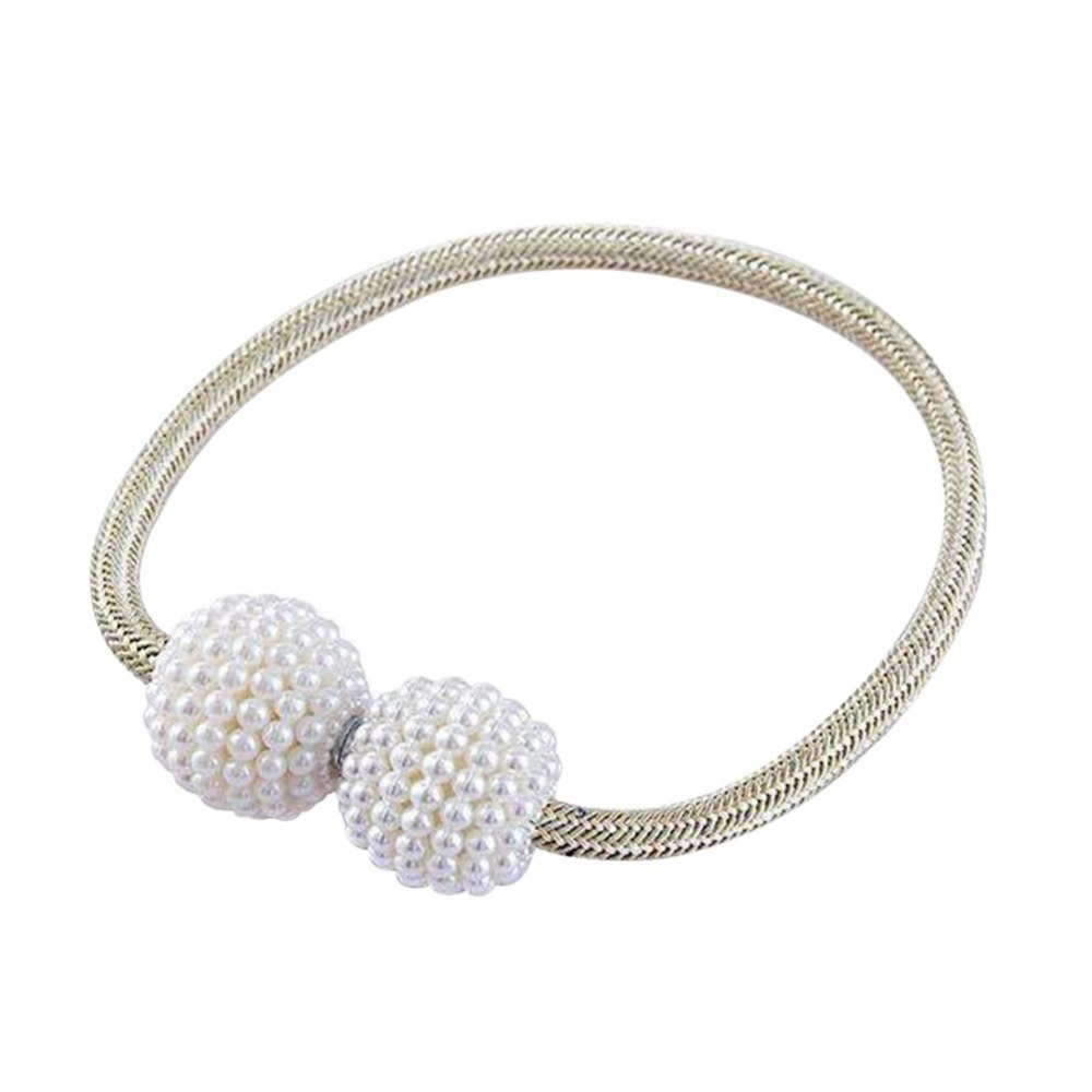 14 Colors Shiny Pearl Magnetic Curtain Clip Curtain Holders Tieback Buckle Clips Hanging Ball Buckle Tie Back Curtain Accessories Home Decor