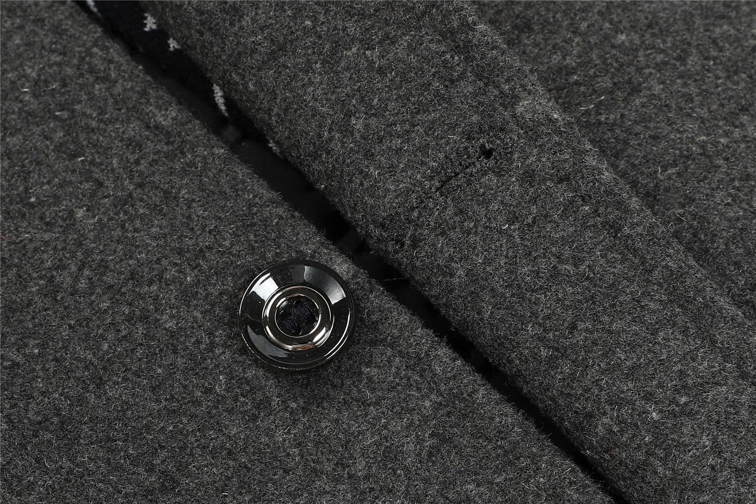 Mens Wool Detachable Scarf Collar Business Casual Thicken Overcoats