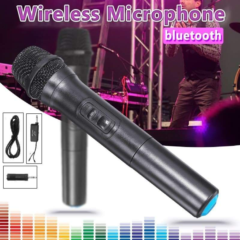 Professional UHF Dual Wireless Microphone System Kits 2 Channel Cordless With 1/2 Mic + 1 Receiver