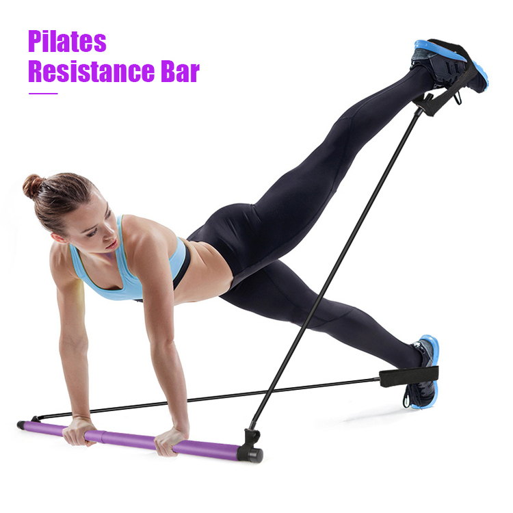 Portable Pilates Bar Kit With Resistance Band Exercise Stick🔥Last Day Promotion
