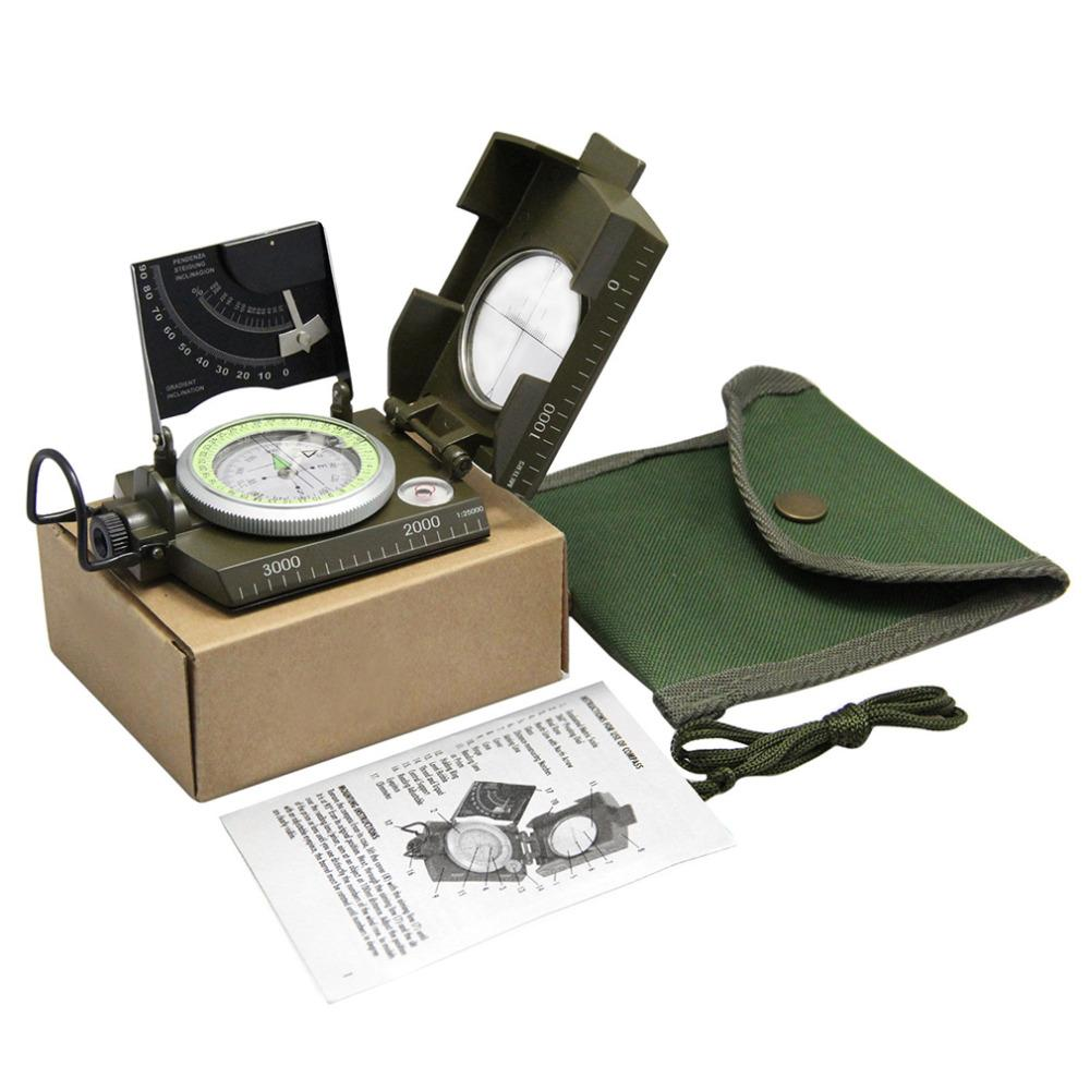 Professional compass Military Army Geology Compass Sighting Luminous Compass with moonlight for Outdoor Hiking Camping
