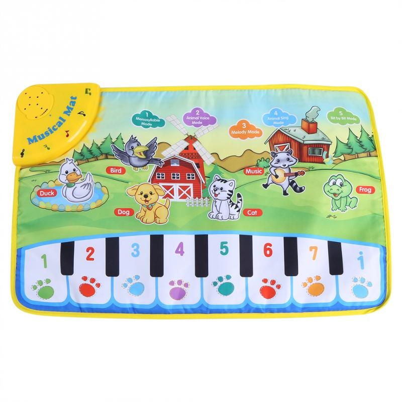 Baby Music Mat Children Crawling Piano Carpet Educational Musical Toy Kids Gift