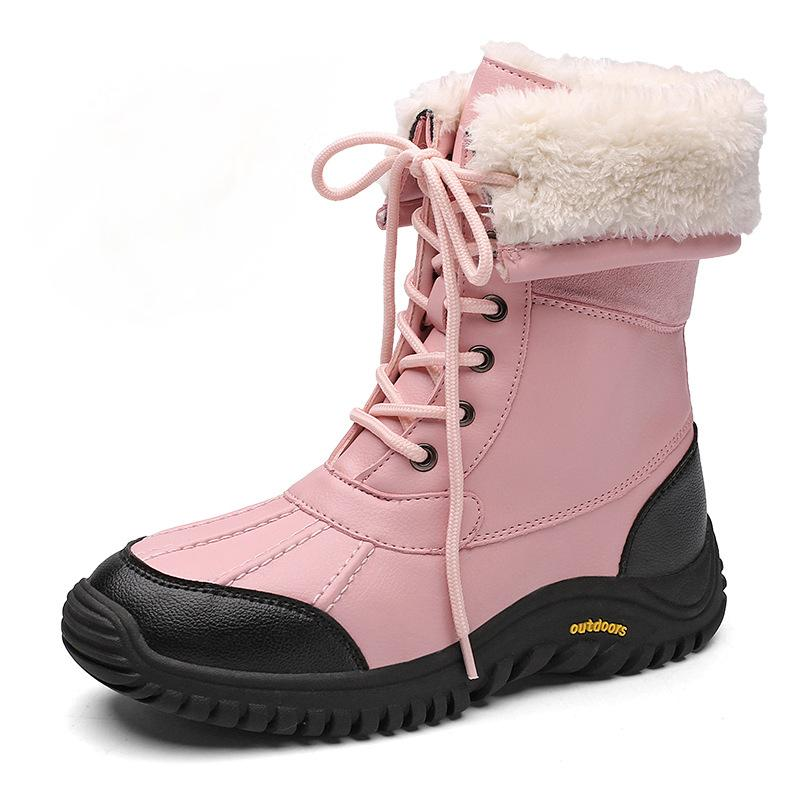 Women's Cozy Warm Lace-up Waterproof Non-Slip High-Top Snow Boots