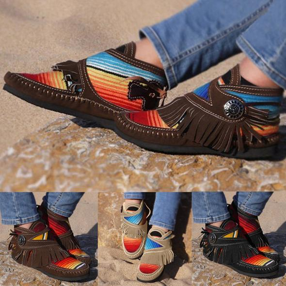 🔥40% OFF Online Sale🔥 Cowgirl Leather Moccasins