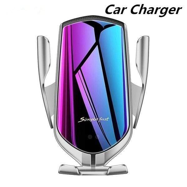 Wireless Car Charger Automatic Clamping 10W Fast Charging 360 Degree Rotation Air Vent Car Mount Holder for Iphone 11 Pro Max Samsung Huawei Android