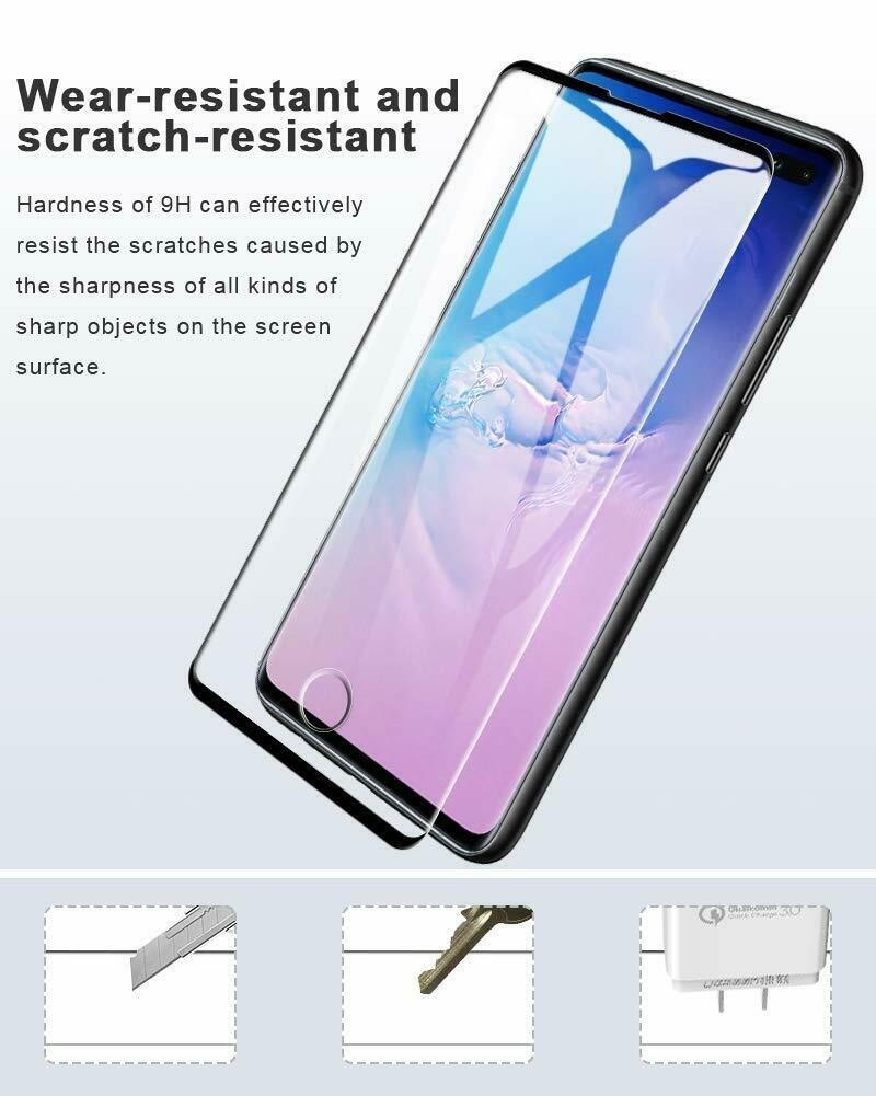 Full Cover Tempered Glass Screen Protector for Samsung Galaxy S10 S10+ S10e S8 S9 Plus S7 Edge / Note 10 Note 10 Plus Note 8 9 Screen Protector