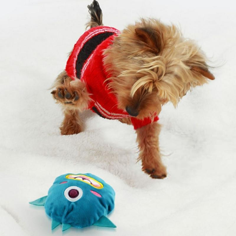 (Buy 2 Get 10% Discount Today)Dog Toys Interactive Plush Chaser Jumping Auto Ball Shake Monster Squeak Toy Scratch-resistant Bite Plush Electric Pet Ball